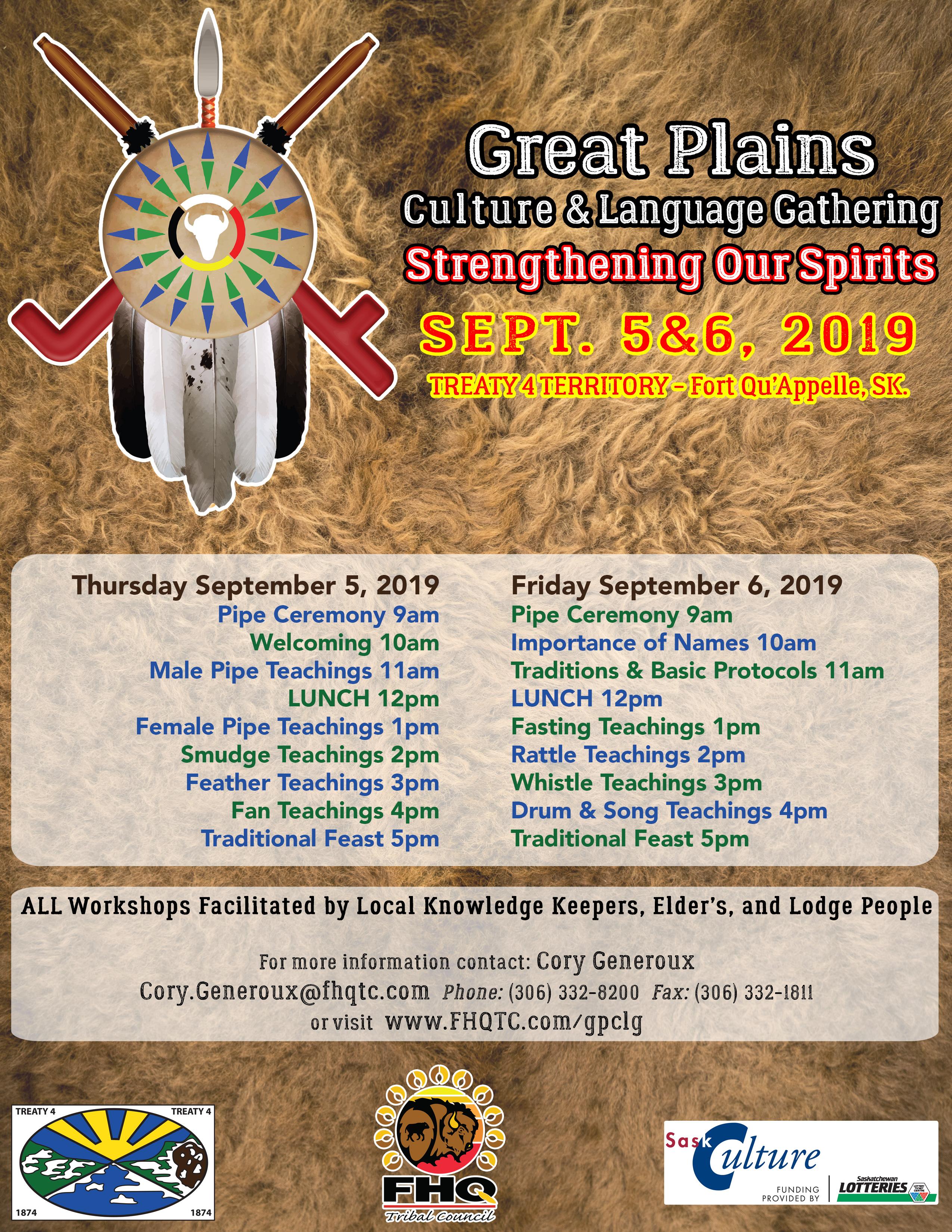 Great Plains Culture & Language Gathering